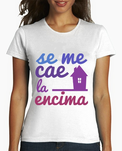 camiseta mujer BLANCA MC LOGO COLO CUADRADO