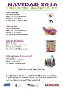 talleres infantiles de Navidad en Caparroso