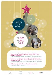 Cartel Museo Muñoz sola actividades diciembre 2018