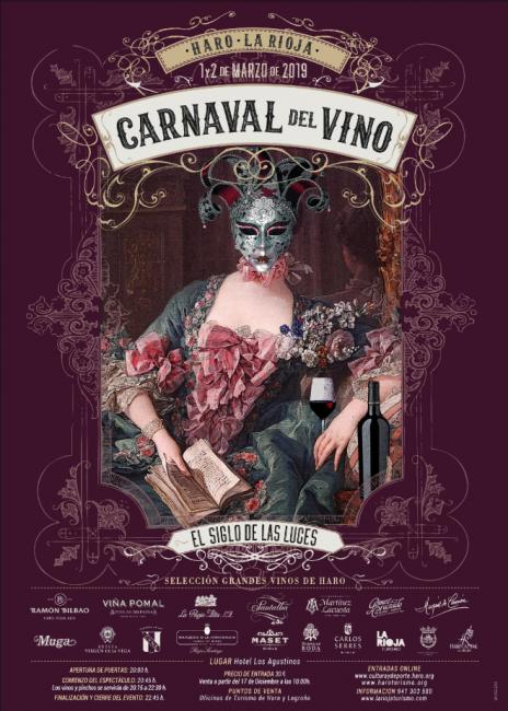 Cartel Carnaval del Vino en Haro 2019