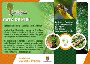 Cartel Cata de Miel Escuela de Sostenibilidad Tudela