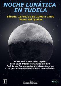 Cartel noche lunática en Tudela