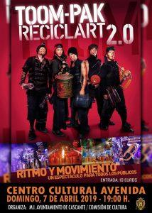 Reciclart 2.0, espectáculo de percusión con instrumentos creados a partir del reciclaje