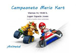 CAMPEONATO MARIO KART